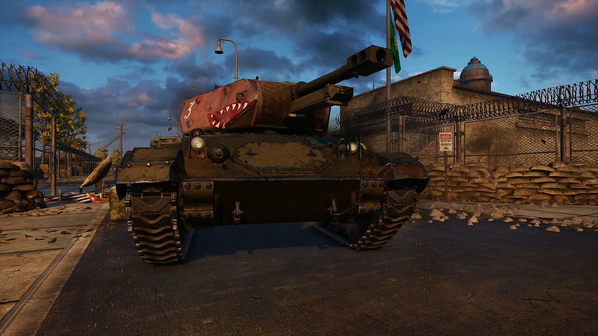 World of Tanks - captura de pantalla de una partida