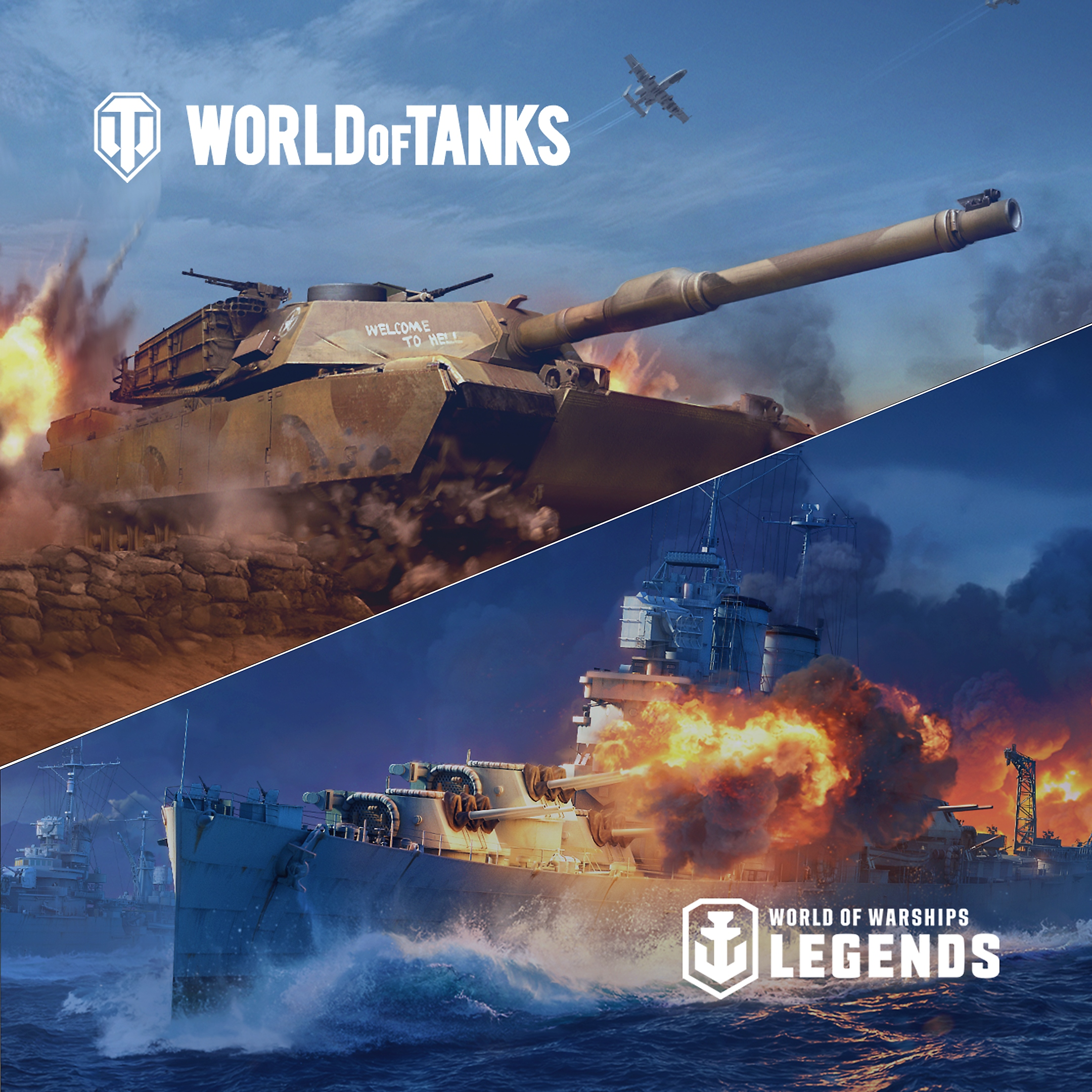 World of Warships y Tanks Play at Home