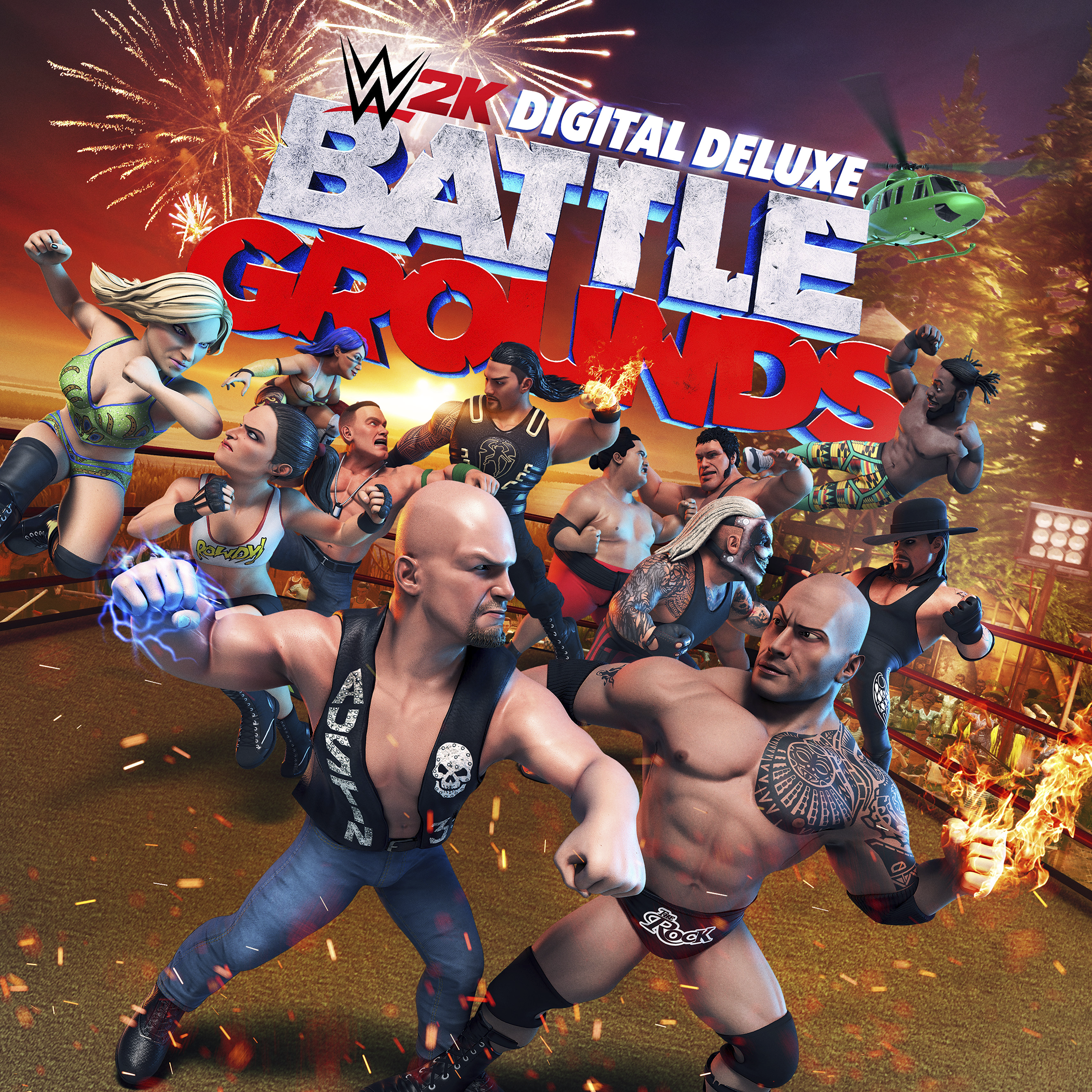 Forudbestil WWE 2K Battlegrounds Digital Deluxe Edition – Store Art
