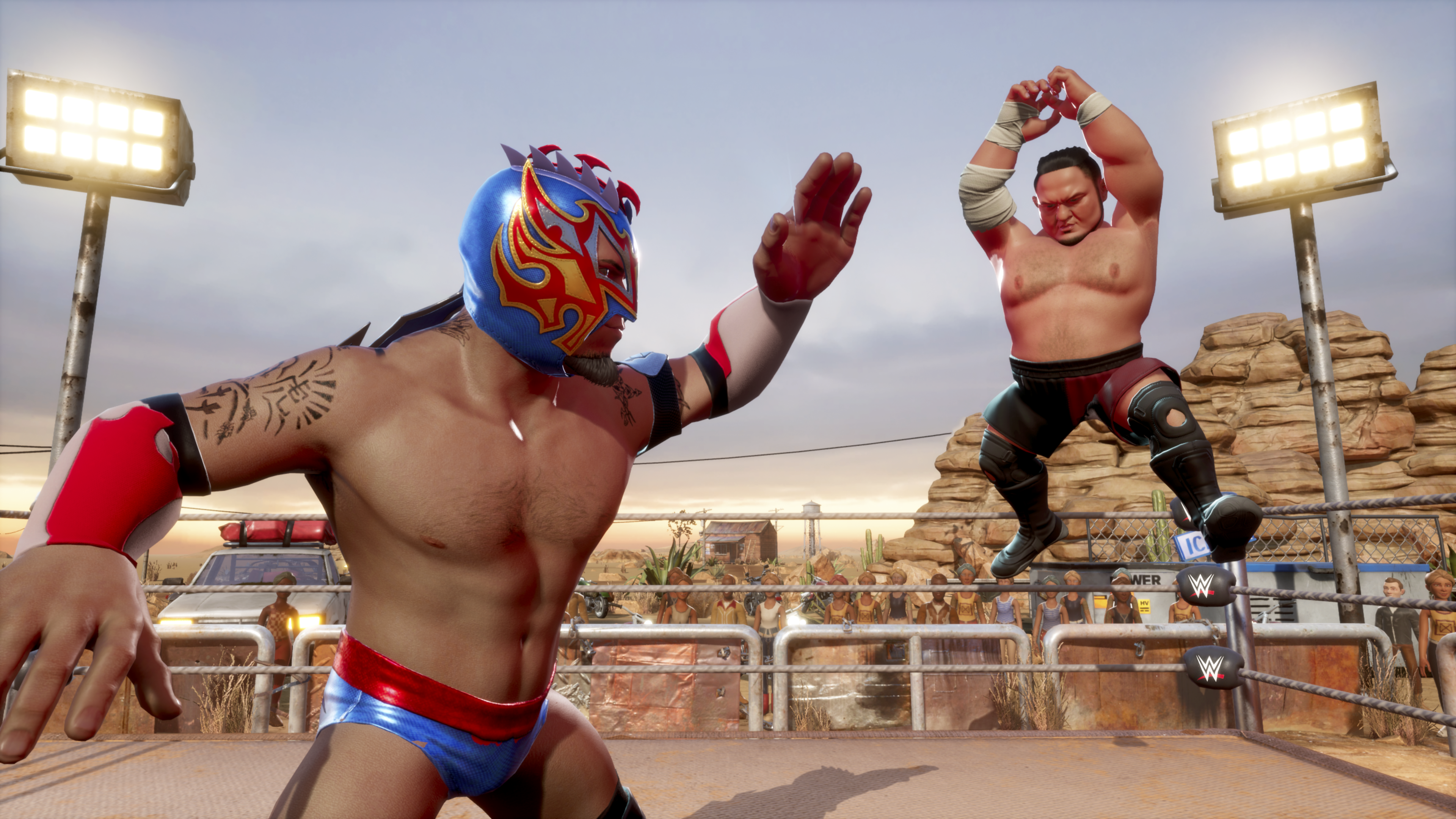 Captura de pantalla de WWE 2K Battlegrounds
